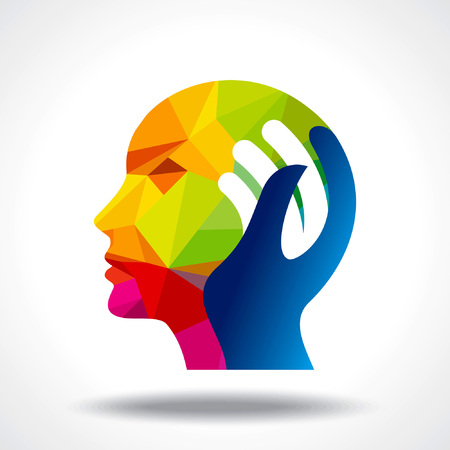 新しいアイデアを考えて人間の頭