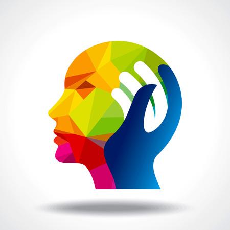 cabeza: cabeza humana pensando en una nueva idea
