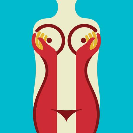 女性の体の図