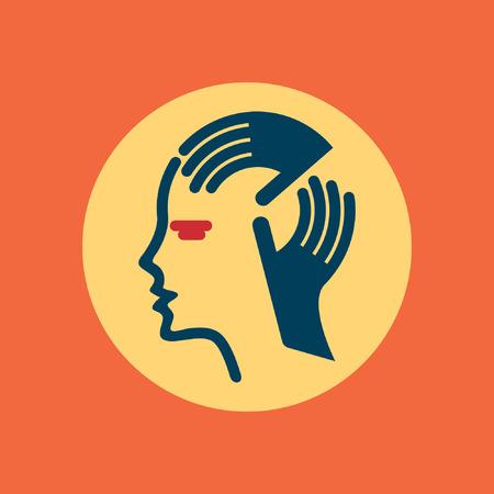 mental problems: human head thinking a new idea