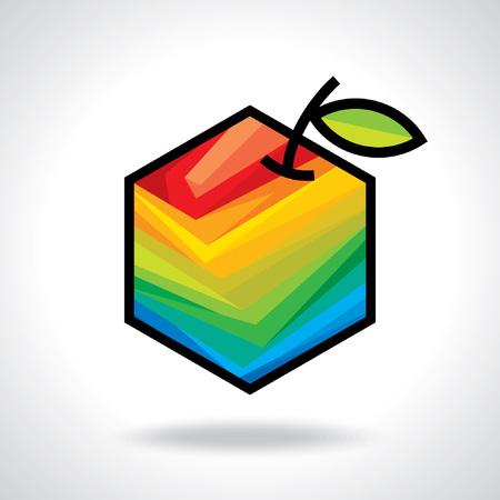 mango fruta: iconos de la fruta vector Vectores