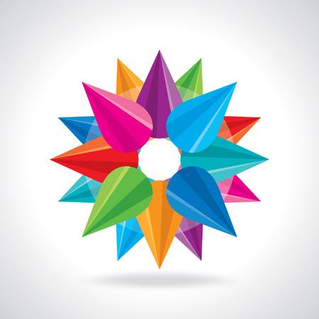descriptive color: creative abstract circle design