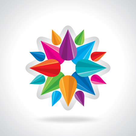 chromatic color: creative abstract circle design