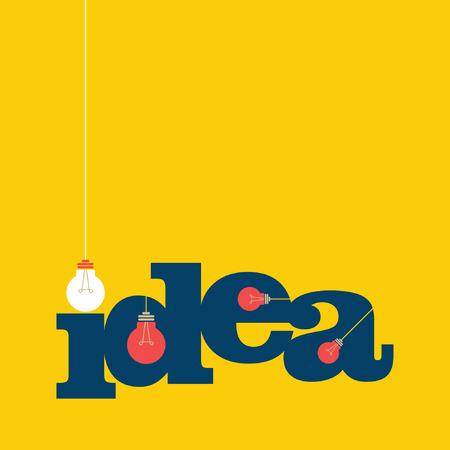 pensamiento creativo: luz bub la gran idea de concepto Vectores