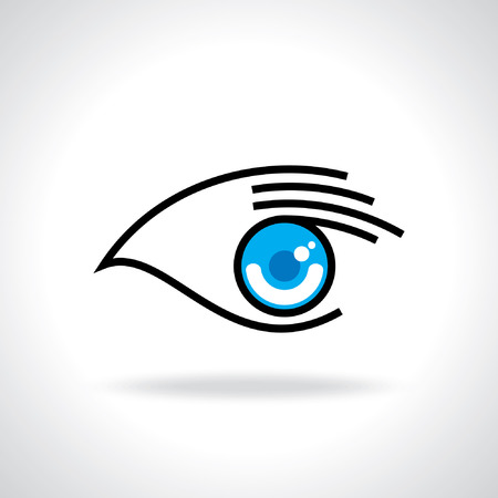 creative eye with hand icon Vector