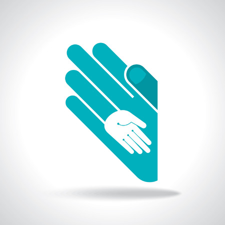 human hand unity concept Vector