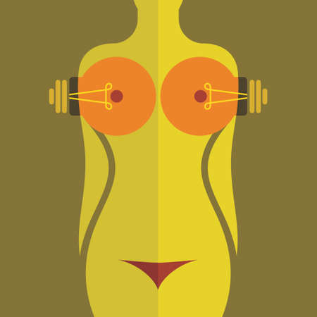 beautiful nude woman icon with concept Vector