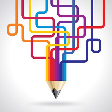 higher education: colored arrow vector