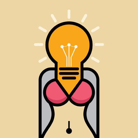 独創的なアイデアを持つ女性の体図