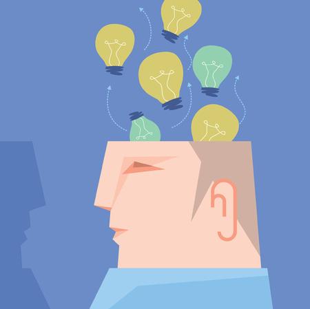 alzheimer's: Brainstorming Illustration Illustration
