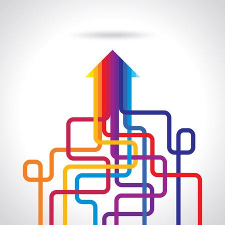 Gekleurde pijlen vector Stock Illustratie