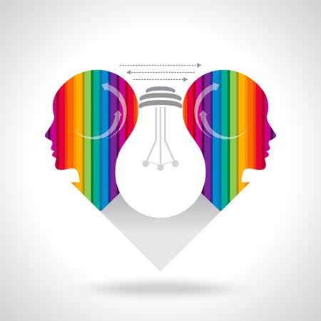 thinking business idea Vector
