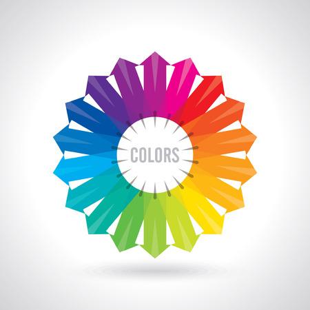Kleurenwiel Vectorillustratie gids
