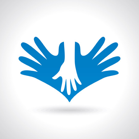 helping hand: teamwork illustration Illustration