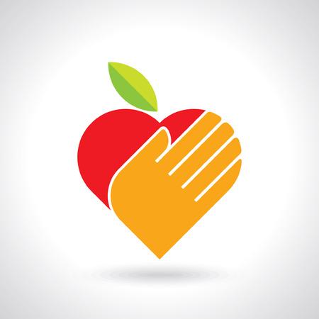 manzana: Ilustración de salvar el concepto de nutrición