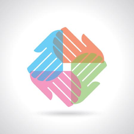 join hands: teamwork illustration Illustration