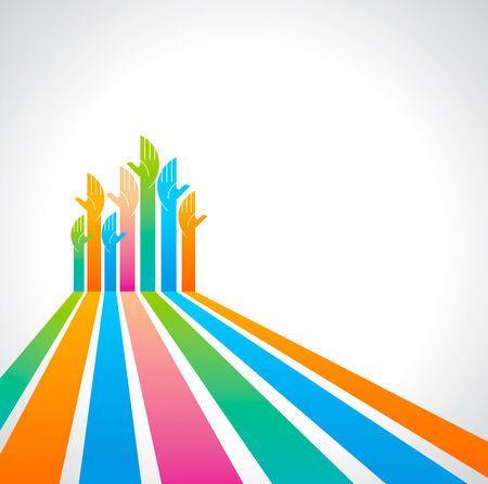 community service: teamwork symbol design