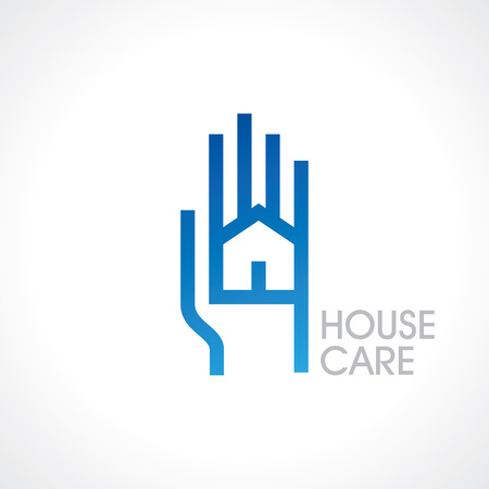 safe house: The concept of safe house symbol