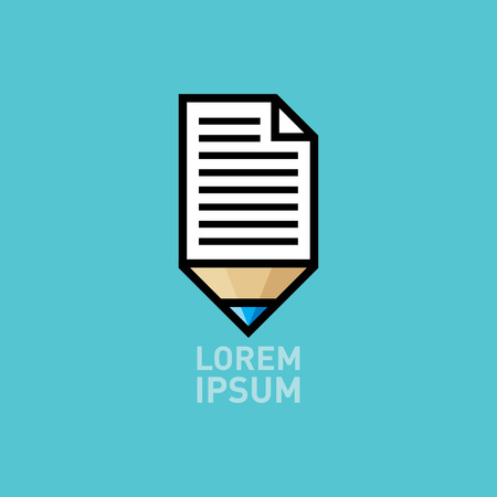 pencil with paper icon Vector