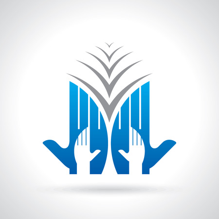 care symbol: teamwork symbol design