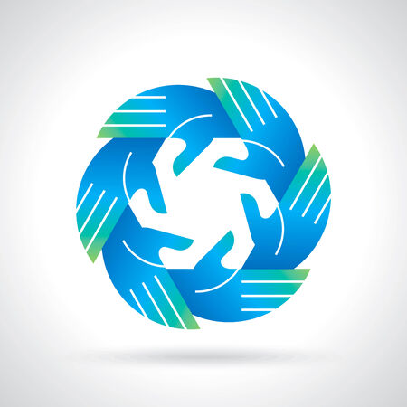 teamwork symbol design Vector