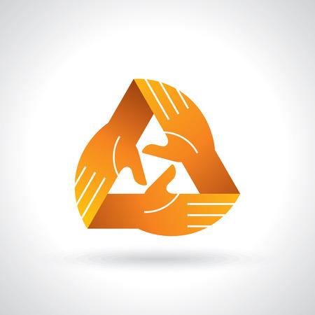 charity work: teamwork symbol design