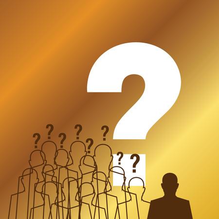 standing success businessman silhouette Vector