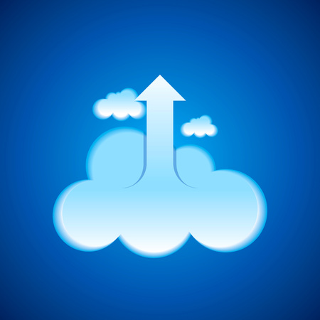 gain access: Cloud computing business concept background with creative