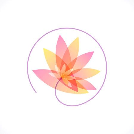 flor de loto: vector de diseño del logotipo de plantilla, centro de rehabilitación
