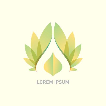 vector logo design tempietto, centro benessere Vettoriali