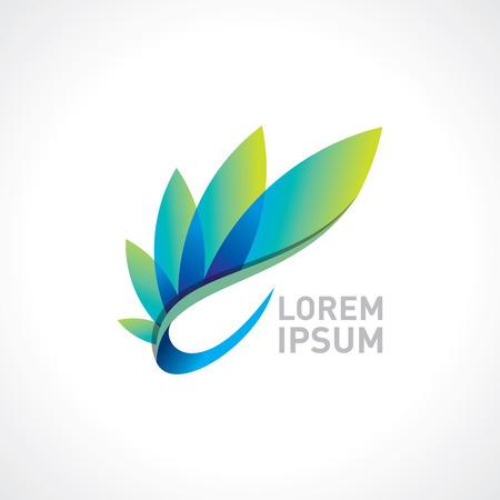 Vector logo ontwerp templet, gezondheid en wellness