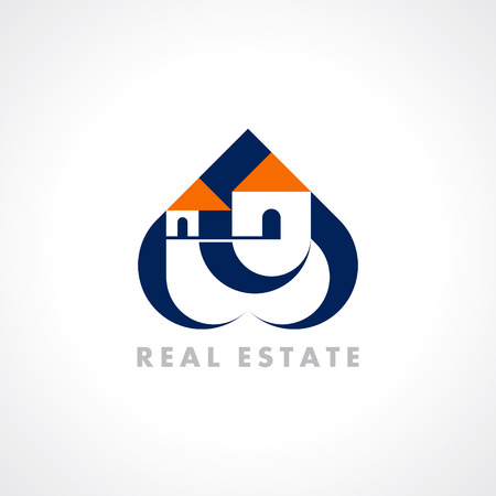 concept icon design template for Real estate Illustration