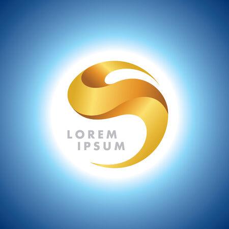 golden light: Abstract Gold Sphere Symbol