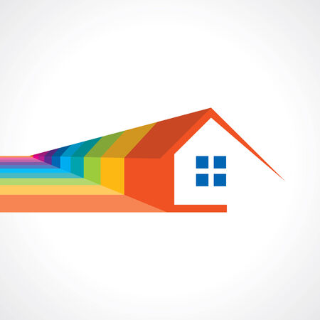 house idea: Real estate icon Illustration