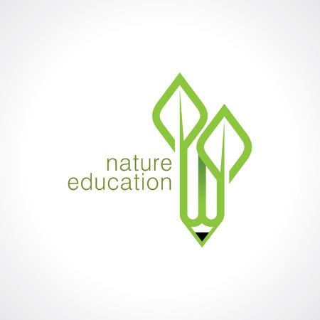 Abstract eco groene vorm, natuur concept