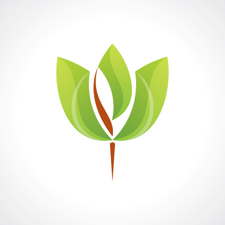 green leaf spa icon Vector