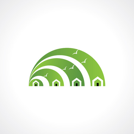 House abstract real estate countryside icon design template  Vector