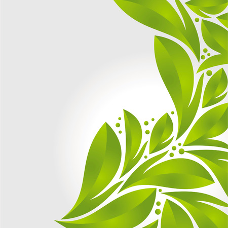green leafs: Green leaves - vector background