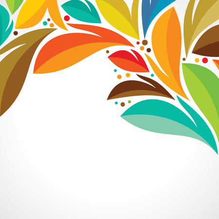 fall leaves on white: Autumn abstract vector background  Orange leaves