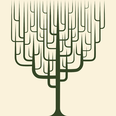 vector of abstract tree icon Vector