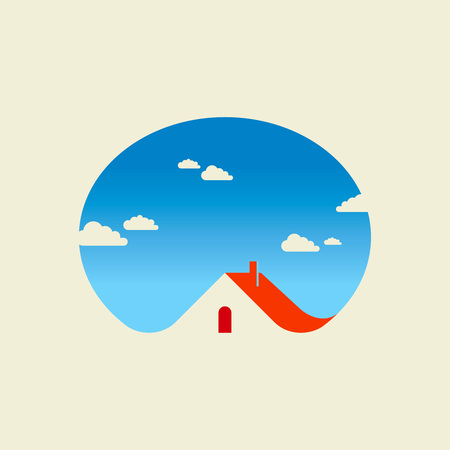 village house: real estate vector