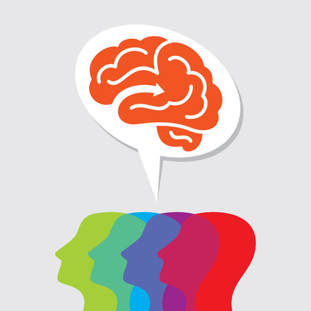brain storming: group of people thinking idea