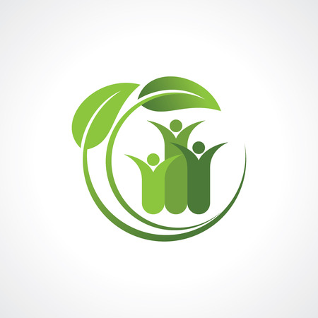 children circle: environment friendly symbol Illustration