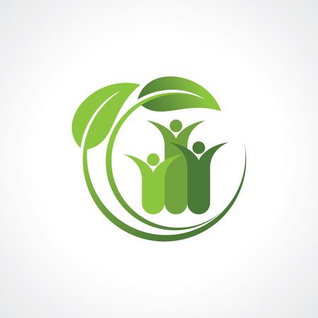 offspring: environment friendly symbol Illustration