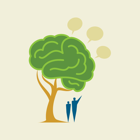 Tree Brain - Illustration Vector