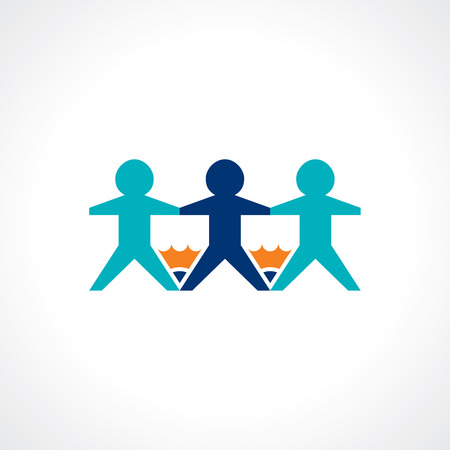 buzz: school education and teamwork symbol Illustration