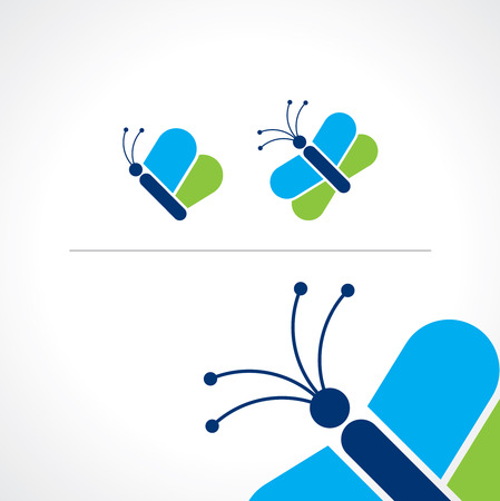 butterfly isolated: butterfly icons, isolated vector illustration