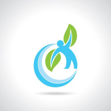 reforestaci�n: cuidado del medio ambiente vector