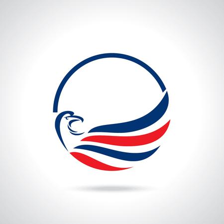 Eagle Silhouette icon Illustration