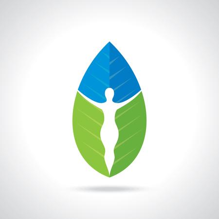 spring balance: environmental care vector